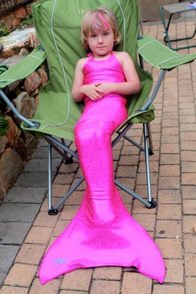 Mermaid in a camping chair