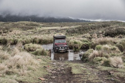 Obligatory land rover water crossing in search of owls ...