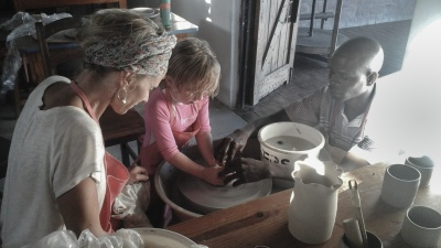 Leah Learning the wheel at Nkhotokhota