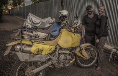 Mick and & Tanya, crazy Aussie motorcyclists at http://earths-ends.com/